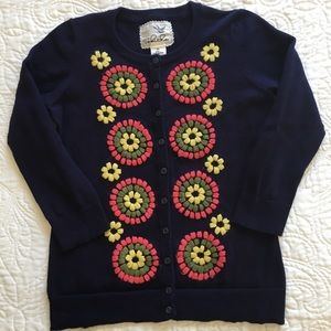 Anthropologie Tabitha embroidered cardigan XS